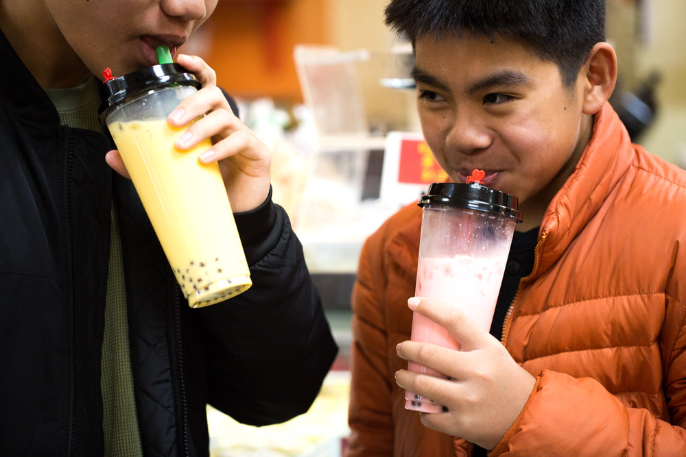 iCafe also serves Hong-Kong-style milk tea, made from black tea and condensed milk.