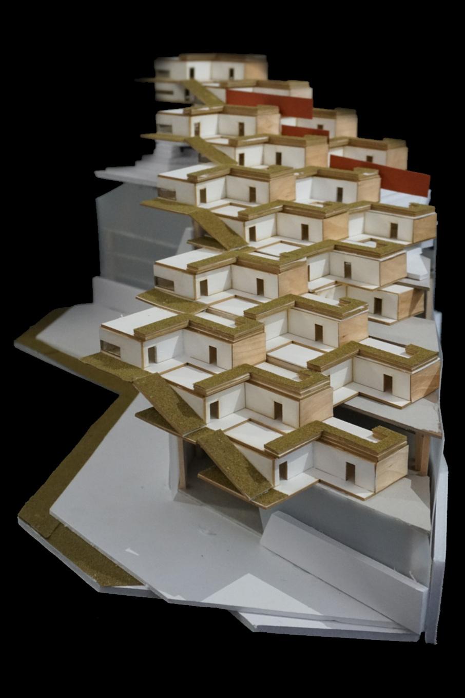 Model | Re-designed apartment complex