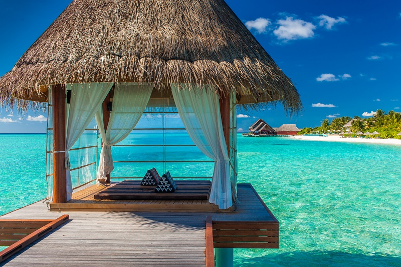 Another must-visit are these romantic and luxurious overwater massage cabanas
