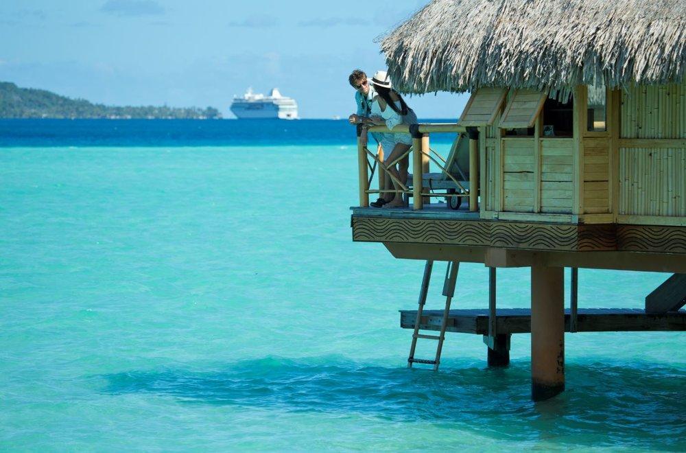 Overwater bungalow in Bora Bora