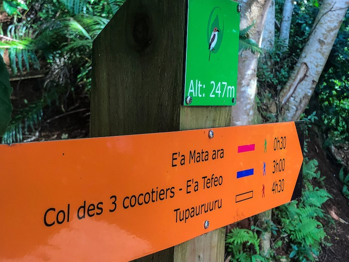 There is good signage and trailhead maps for some (but not all!) trails on Moorea