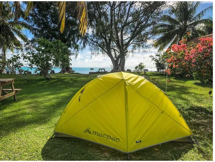 The journalist Caro Ryan experienced camping on Moorea and she loved it!