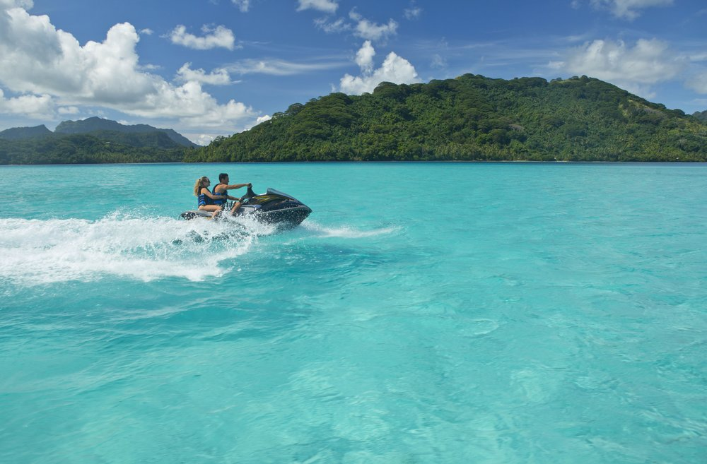 Jet ski is a very popular activity in French Polynesia