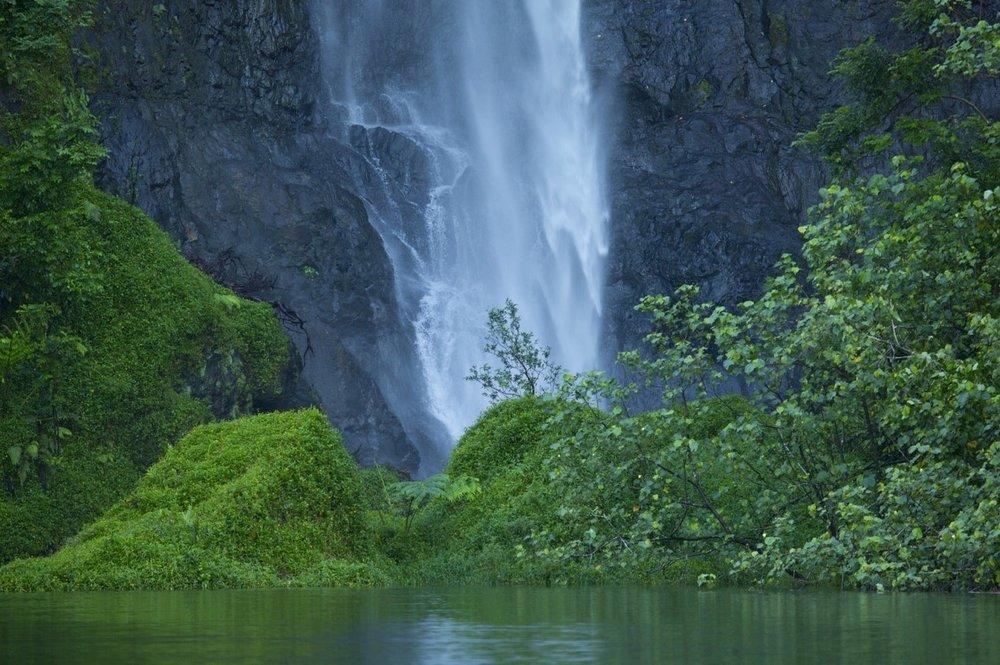 Fautaua Falls in Tahiti