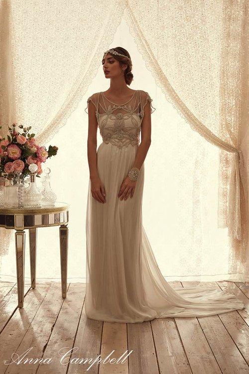 Adelaide Chiffon Unique Boho Vintage Designer Wedding Dresses