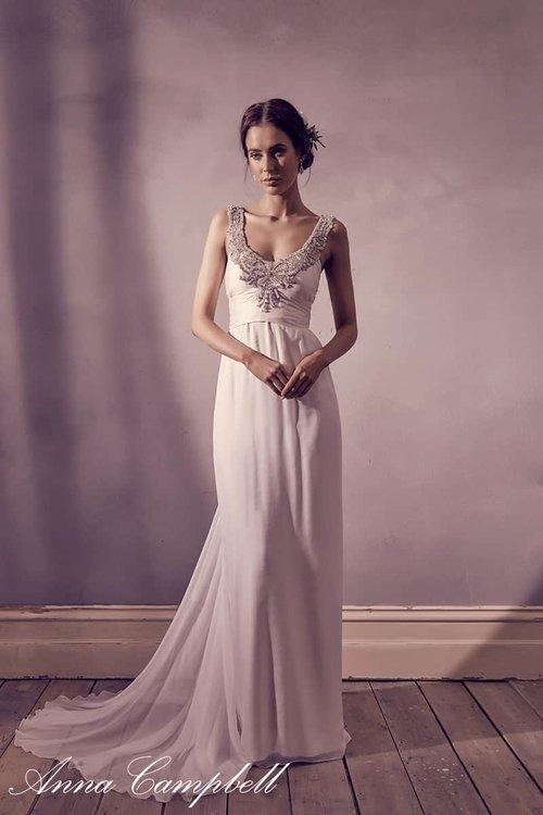 Amity (Chiffon) — Unique, Boho Vintage Designer Wedding Dresses ...