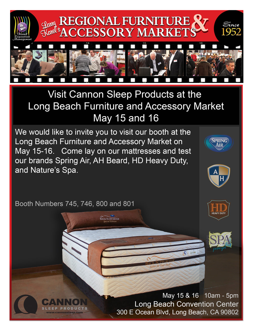 Cannon Sleep Products At The Long Beach Furniture And Accessory Market