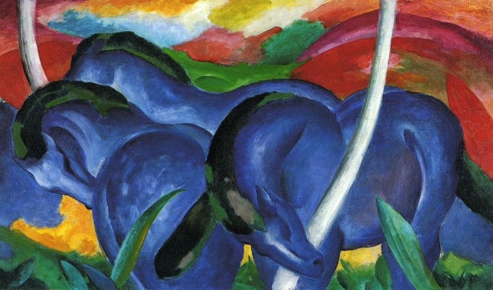 The Large Blue Horses by Franz Marc, 1911