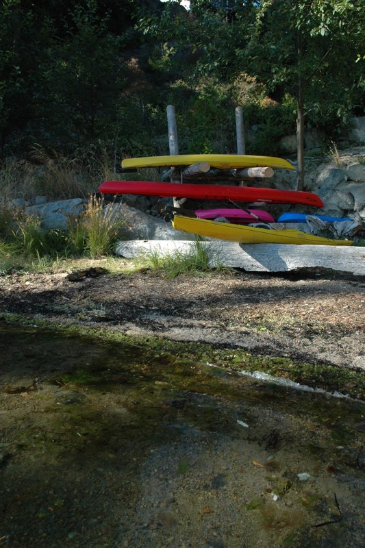 Homemade kayak storage racks