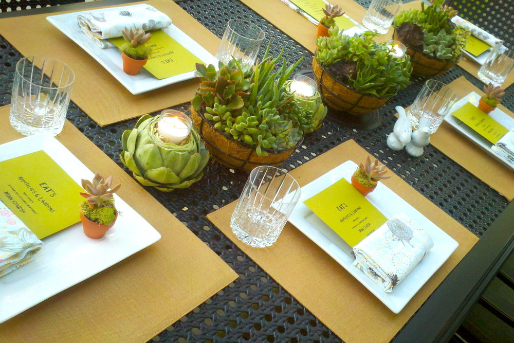 Artichoke Candles Menu Mini-Succulent