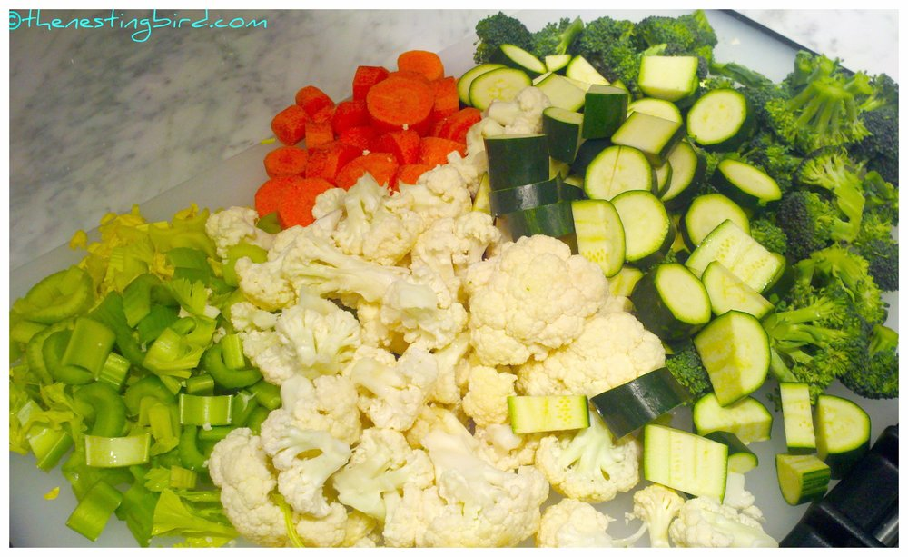 Making Veggie Soup