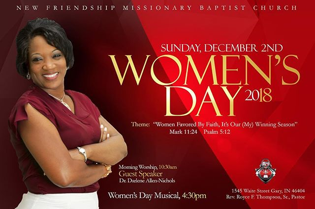 Be our guest this Sunday...Women's Day 2018!!!