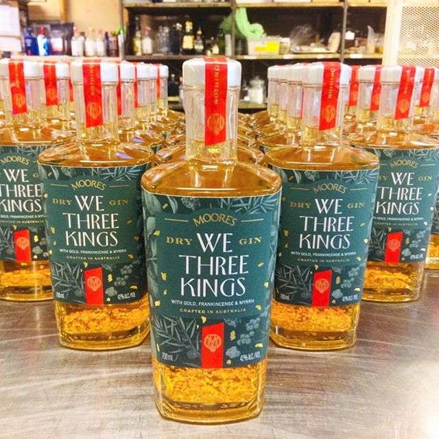 "PSA 👉 Christmas is upon us in just 46 days, so we've released a gin to celebrate. Introducing our delicious, We Three Kings Gin. 🎄🍸From the maker Phil: ""This gin gifts you a culinary treasure trove of aromas and flavours. Many of them you will find in Christmas cakes, puddings and mince pies. The three wise men bring you gold, frankincense and myrrh. The Orient brings you festive spices of cinnamon, allspice and nutmeg. The orchard brings you oranges and lemons in addition to muscatel grapes, currants.""👌😁 Available at the cellar door or online for $89.95. Link in bio. #distillerybotancia #wethreekingsgin #christmasgin"