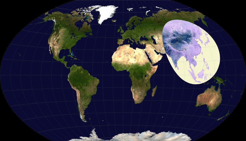 More people live inside the circle than outside it. -