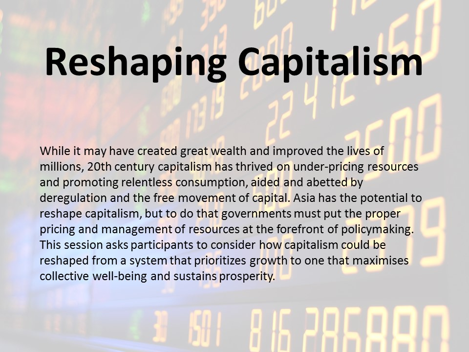 Reshaping Capitalism