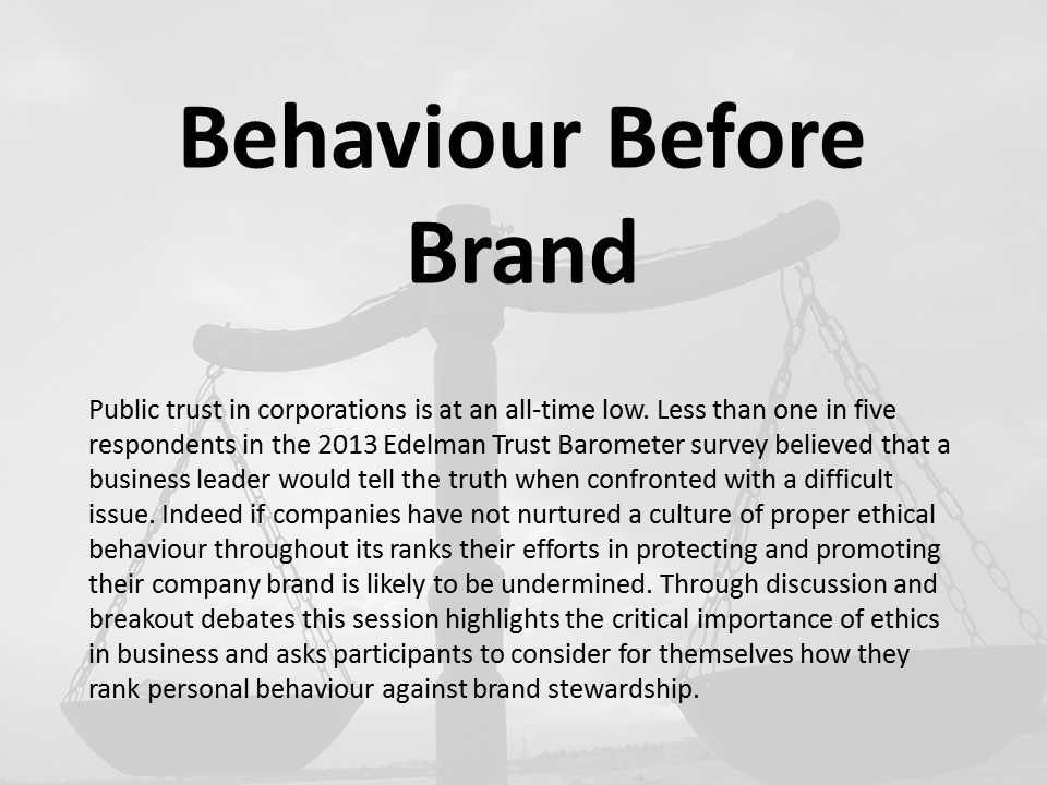 Behavior Before Brand