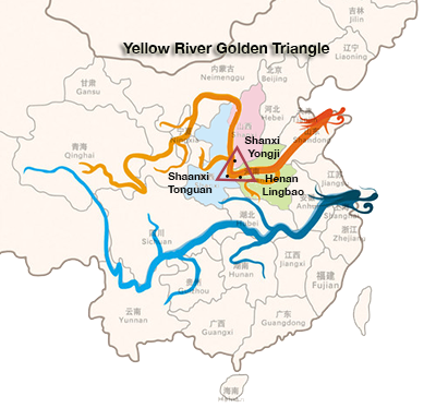 Yellow River Golden Triangle, China