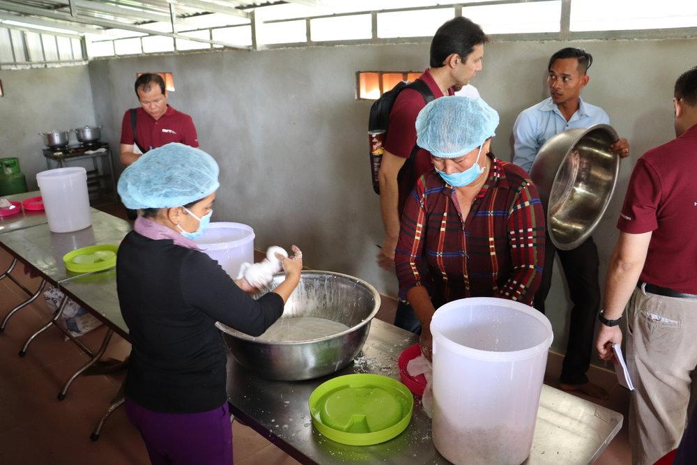 Village level virgin coconut oil processing centre in Cambodia