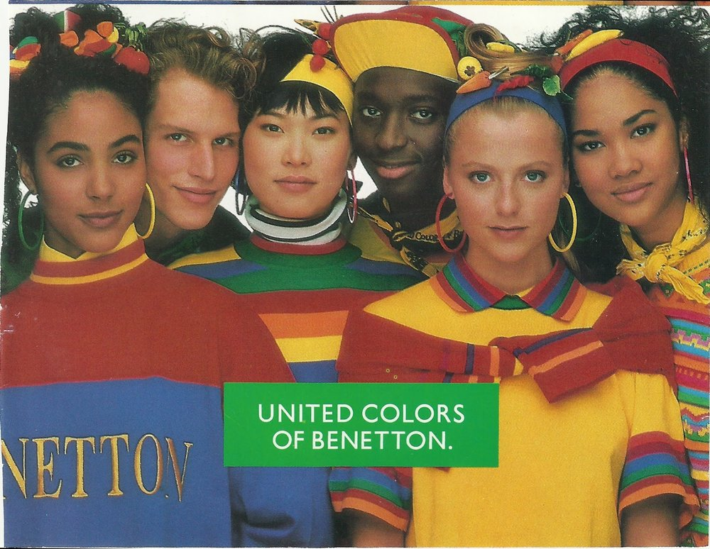 Diversity of colours makes for good advertising -