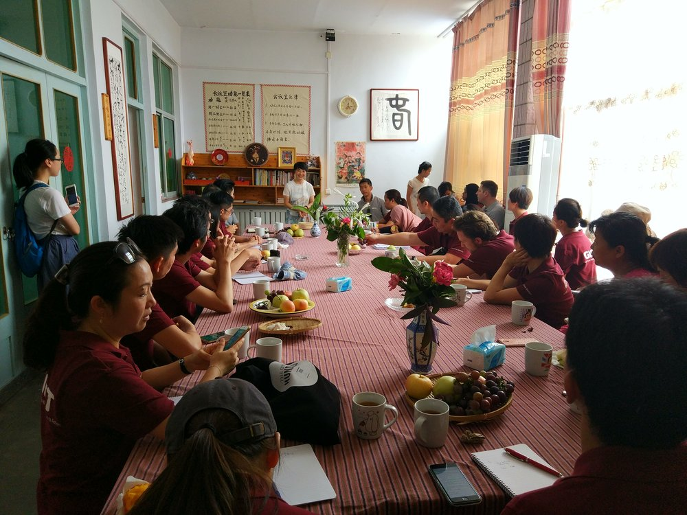 Zheng Bing with GIFT participants in Puhan, Shanxi