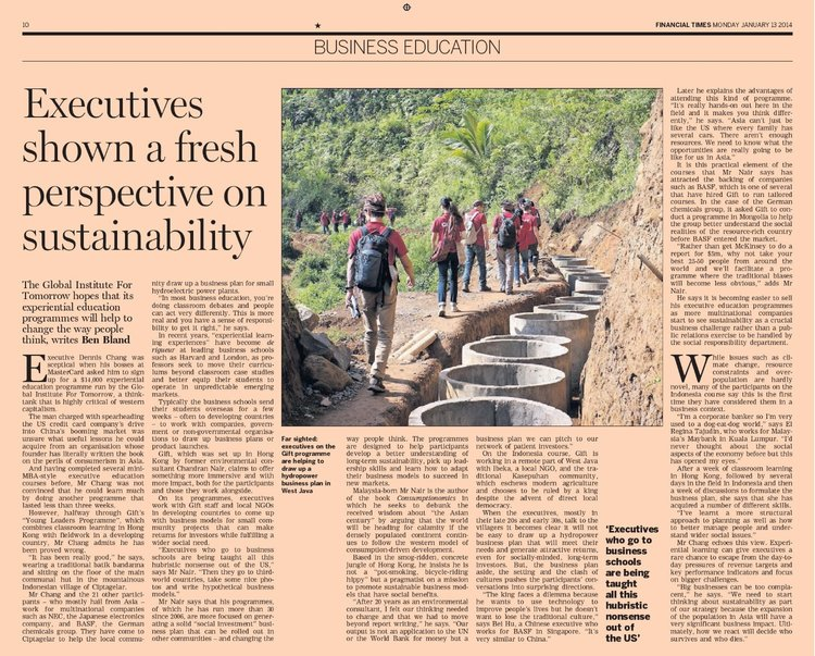 gift featured in the financial times