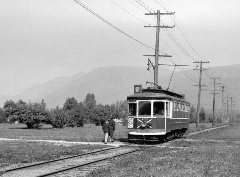 Street car line on Grand Boulevard, 1940.