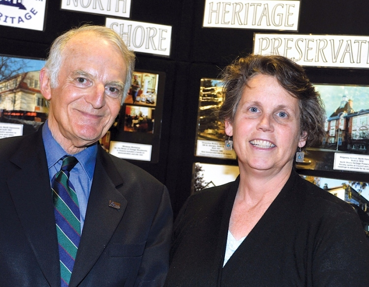 North Shore Heritage Preservation Society president Peter Miller and VP Jennifer Clay