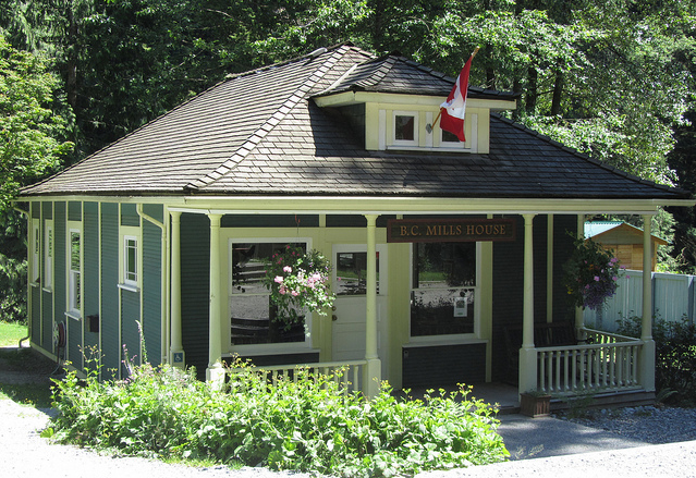 BC Mills House Museum, Lynn Headwaters Regional Park, North Vancouver. Photo courtesy of Eve Lazarus.