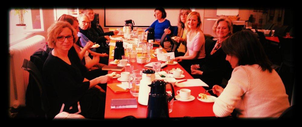 Erfa-møde for frivillige læseguider i København.