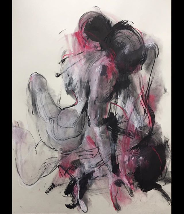 ...Letting It Go In Motion.... life drawing  60 x 84 cm . . . #lifedrawings #artdaily #largeartwork #figuredrawing #contemporaryrealism #fineart