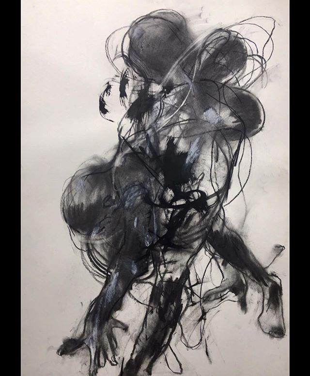 ...the force of gravity..... life drawing  60 x 84 cm . . . #lifedrawing #sketch #figurativedrawing #emergingart #artoftheday #art #newart #abstractart #expressionism #artforsale #charcoaldrawing #blackandwhite #comtemporaryartist #emergingart #artgallery #artcollector