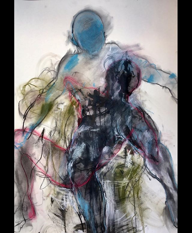 U-Turn.... mixed media on paper 60 x 84cm available . . . #lifedrawing #sketch #sketch_onn #expressionism #impressionism #figurativeart #drawing #urbanart #femaleartist #newart #contemporaryart #abstractart #largescaledrawing #art_seeking #artforsale #worksonpaper