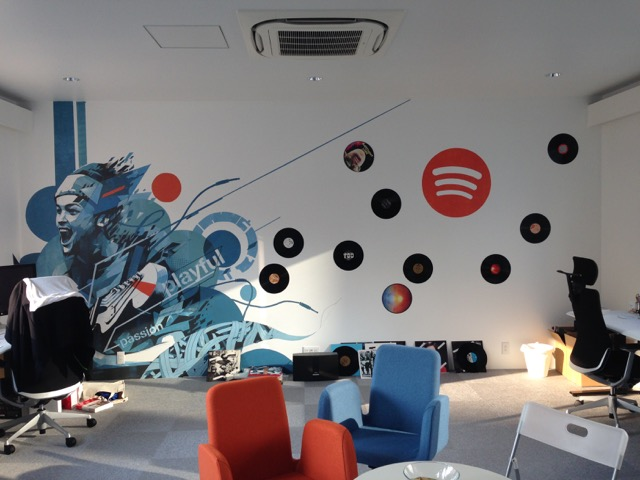 Spotify Office Program: Office, Bar & Art Direction Client: Spotify Japan Size: 120 sq. m Completed: July 2015