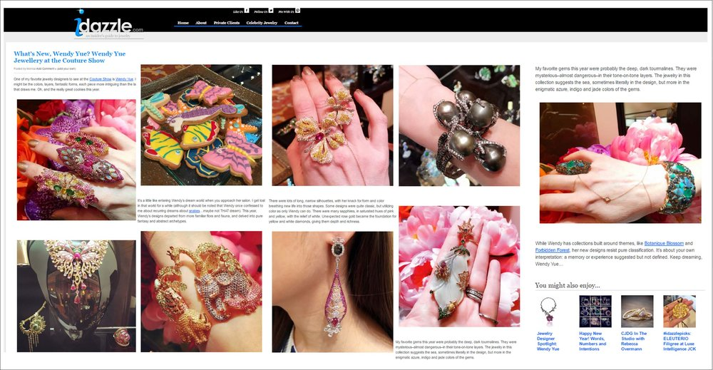 thanks!idazzle!!! http://idazzle.com/2015/07/14/whats-new-wendy-yue-wendy-yue-jewellery-at-the-couture-show/