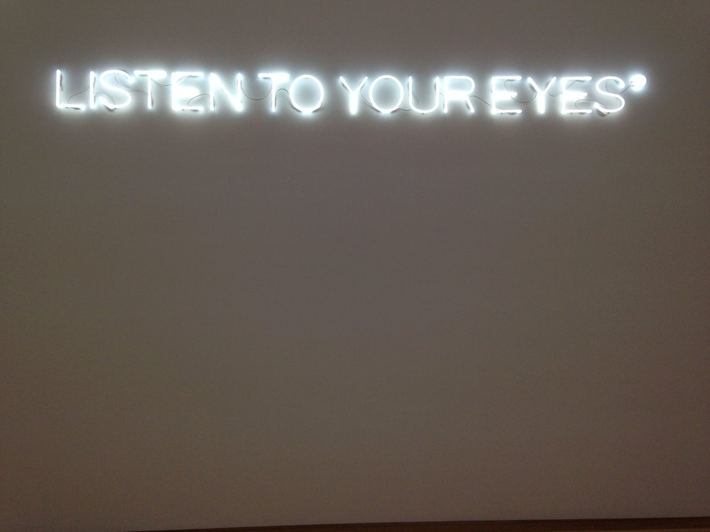 Maurizio Nannucci,  Listen to your eyes  (2015)