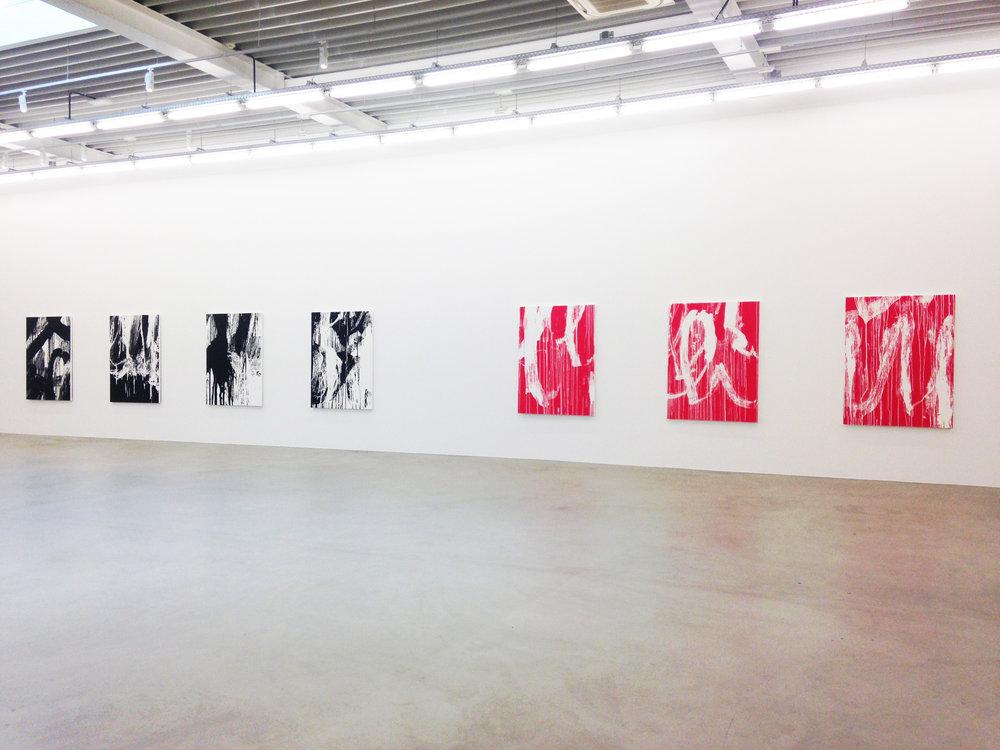Richard Phillips , Galerie Almine Rech, vue partielle de l'exposition