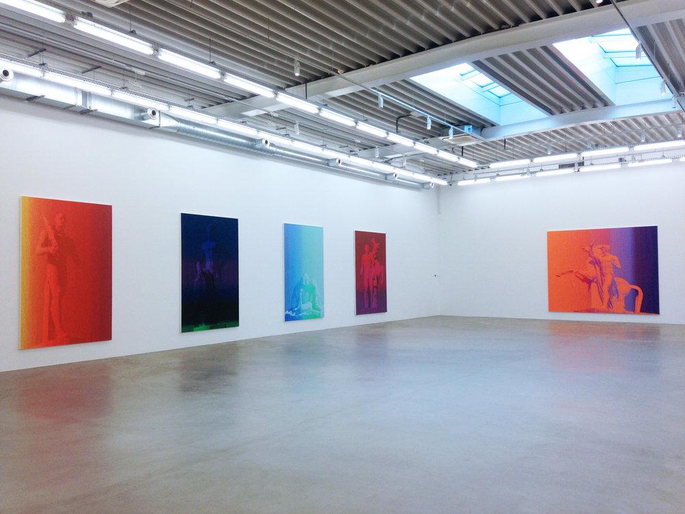 Richard Phillips , Galerie Almine Rech, vue partielle de l'expositon