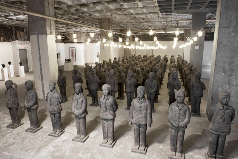 Prune Nourry, Terracotta Daughters, Crossing The Line Festival (FIAF) & China Institute, New York City, September 2014