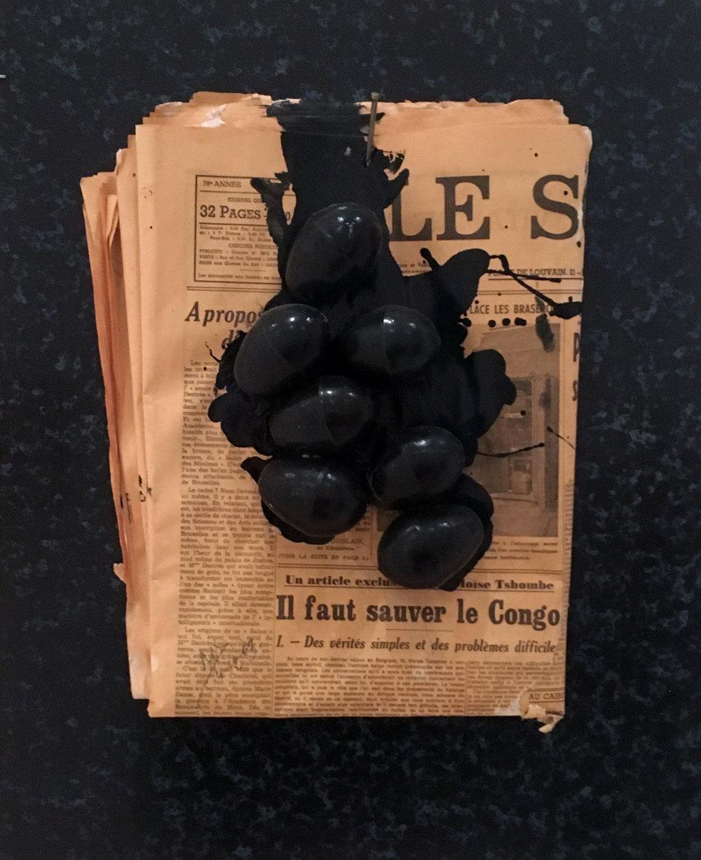 Marcel Broodthaers,  Le problème noir en Belgique , 1964