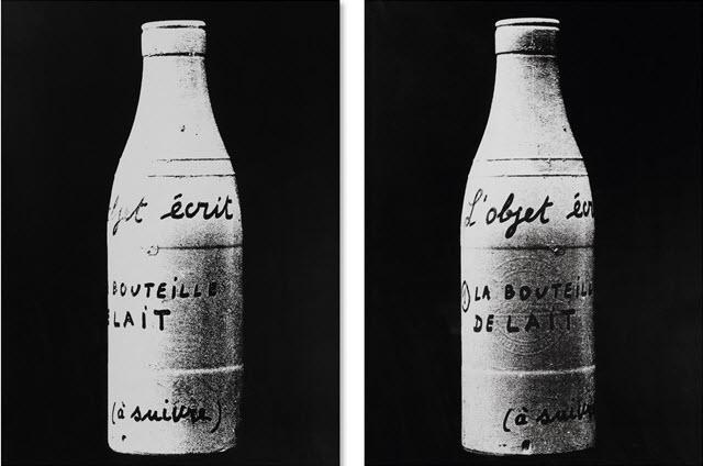 Marcel Broodthaers,  La bouteille de lait , 1967