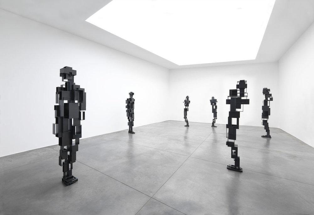Antony Gormley, Living Room, Galerie Xavier Hufkens. Image courtesy: Galerie Xavier Hufkens