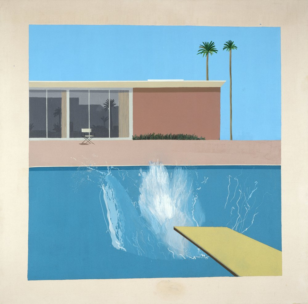 A Bigger Splash, 1967 [Une gerbe d'eau encore plus grande] Acrylique sur toile 242,5 x 244 cm © David Hockney Collection Tate, London, purchased 1981