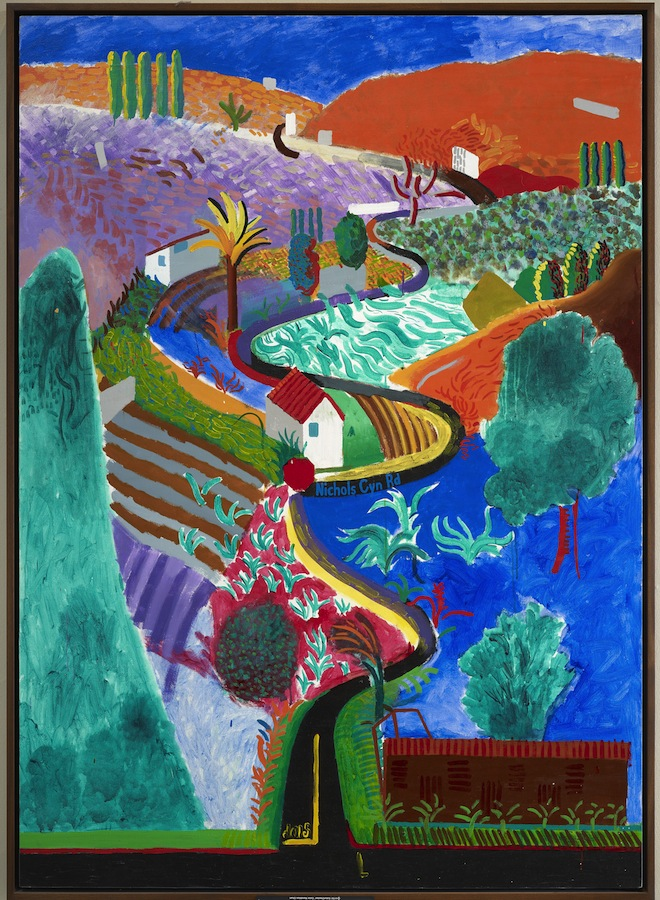 Nichols Canyon, 1980 Acrylique sur toile 213,5 x 152,5 cm © David Hockney Photo : Prudence Cuming Associates Collection particulière