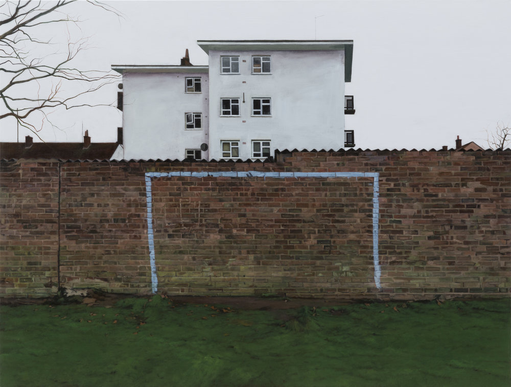 George Shaw, The Painted Wall, 2017