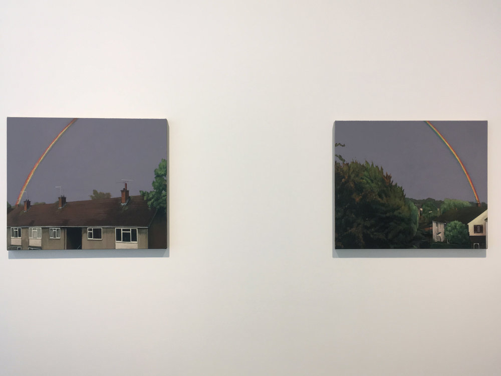 George Shaw, 'The Lost of England', galerie Maruani Mercier, vue d'exposition