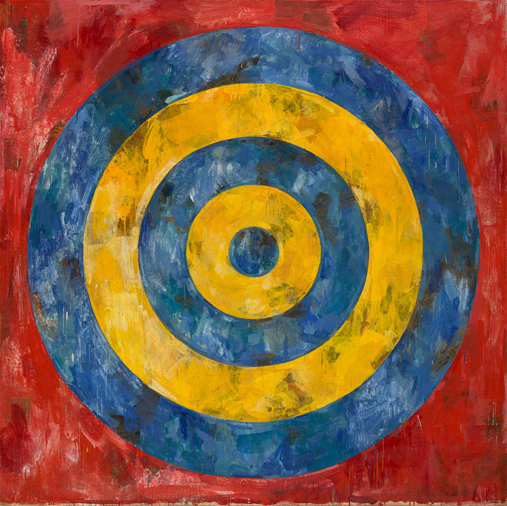 Jasper Johns,Target, 1961 Encaustic and collage on canvas. 167.6 x 167.6 cm. The Art Institute of Chicago © Jasper Johns / VAGA, New York / DACS, London. Photo: © 2017. The Art Institute of Chicago / Art Resource, NY / Scala, Florence.