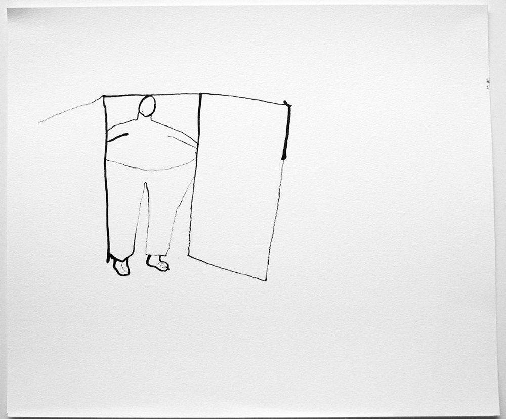 Anne-Marie Schneider, Sans titre (homme et porte), 2011