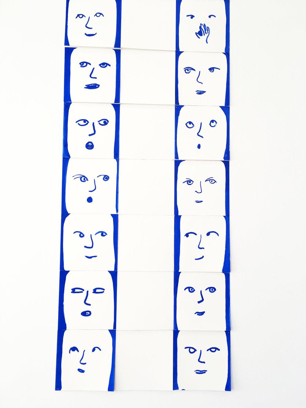 Anne-Marie Schneider, Sans titre (Portraits), 2012 (détail)