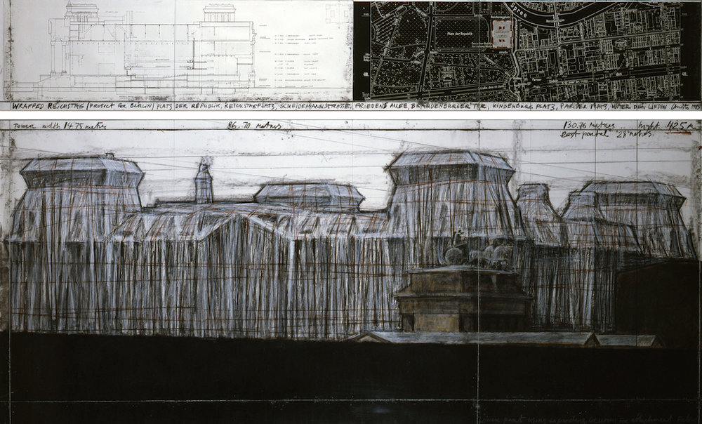 Wrapped Reichstag, Christo & Jeanne-Claude