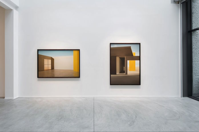 James Casebere, 'Emotional Architecture', Galerie Templon, vue d'exposition. Image courtesy: Galerie Templon